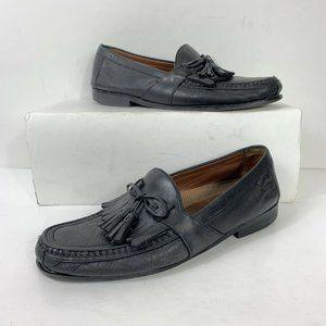 Johnston Murphy Black Tassel Loafers Men Sz 10